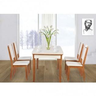 Bộ bàn ăn gỗ tự nhiên BA126-GA126