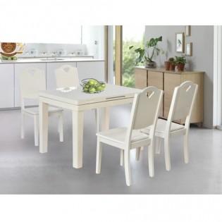 Bộ bàn ăn gỗ tự nhiên BA127-GA12