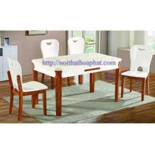 Bộ bàn ghế ăn cao cấp BA128,GA128